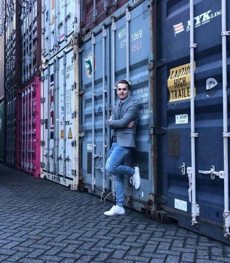 Arjan (21) begint bedrijf in containerwoningen