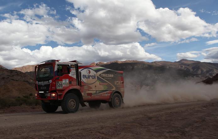 De MAN van Peter Versluis in de 4e etappe van Dakar 2017