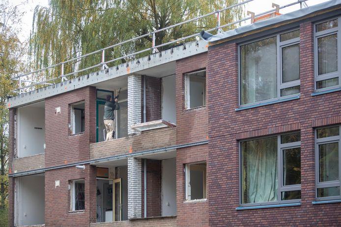 De flat aan de Nolensstraat in Wageningen wordt energieneutraal.