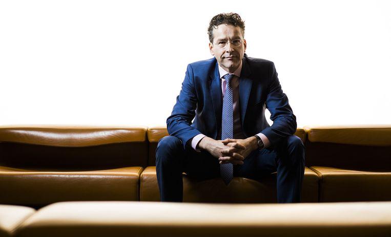 Jeroen Dijsselbloem: 'We hebben nu een feitelijke coalitie van vijf partijen. Tegen de verwachtingen in heeft dat goed gewerkt.' Beeld Freek van den Bergh