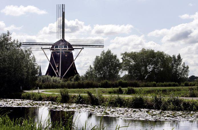 De molen in Driemond.