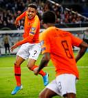 EK-Kwalificatie Duitsland-Nederland 2019 Donyell Malen juicht na de 3-2 Foto; Pim Ras