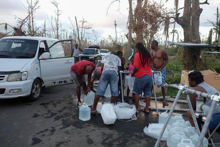 Het B-Fast-team zorgde voor een waterzuiveringsstation.