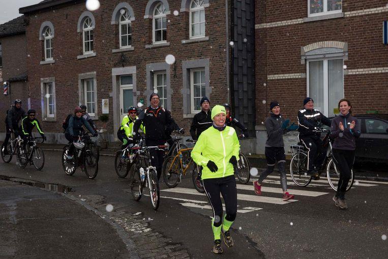 Sofie Lenaerts kwam na een tocht van 270 kilometer aan in Voeren.