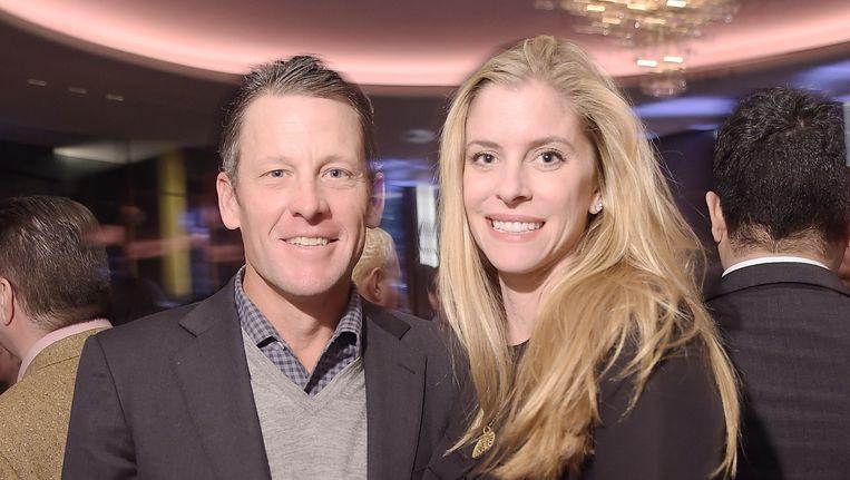 Lance Armstrong met zijn vriendin Anna Hansen