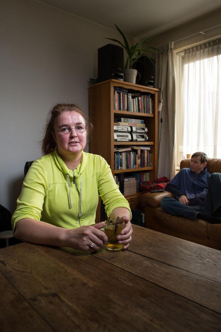 Jantien Zijlstra: 'In de berging heb ik een slaapkamer' Beeld Mats van Soolingen