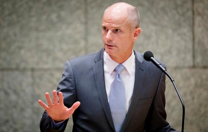 Minister Stef Blok van Veiligheid en Justitie in de Tweede Kamer.
