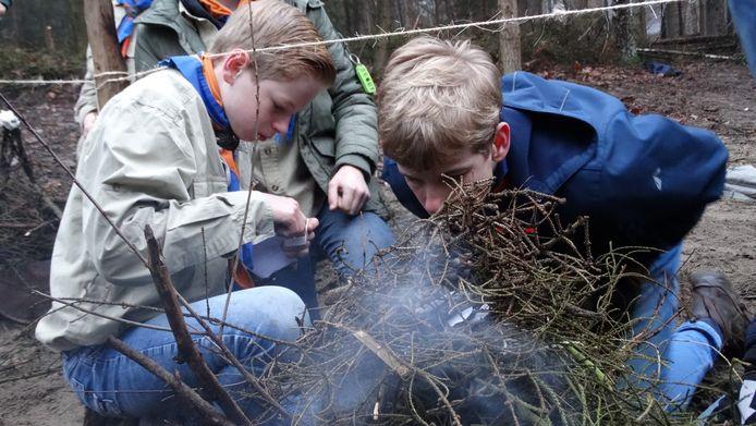 Scouting Rijssen viert haar zeventigste verjaardag met activiteiten in kleine groepjes.