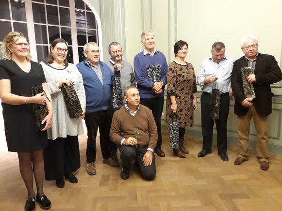 De VVPV huldigt elk jaar enkele bestuursleden in Izegem.