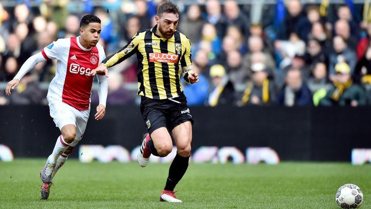 Van de speler die Justin Kluivert onder Marcel Keizer was is geen schim meer over, concludeert Ajaxwatcher Dick Sintenie. Beeld Pro Shots