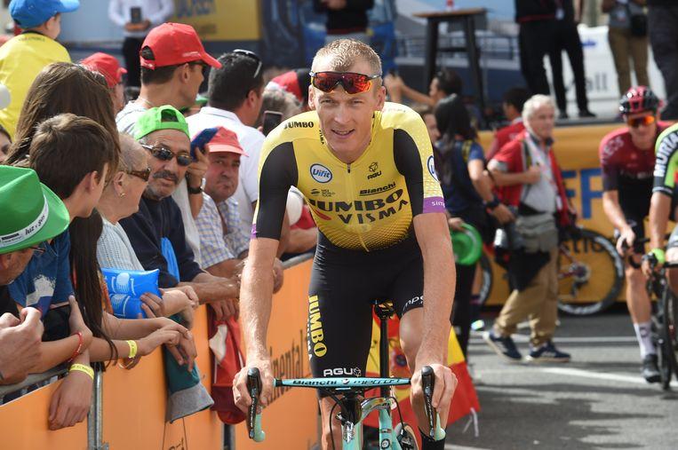 Robert Gesink, hier vorig jaar in de Vuelta Beeld BSR Agency
