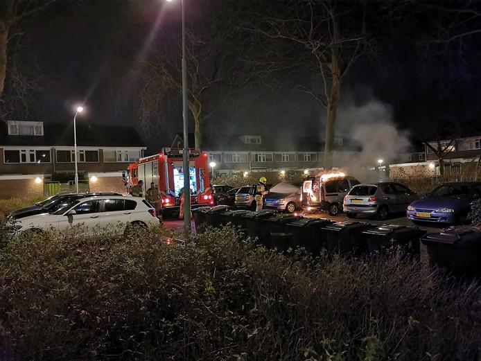 De autobrand in Wageningen.