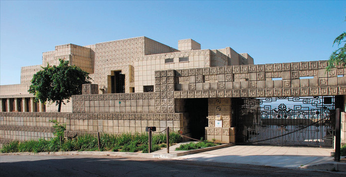 Ennis House van Frank Lloyd Wright.