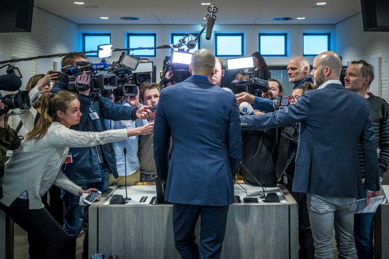 Advocaat Gerald Roethof na afloop van de pro-formazitting in augustus tegen Jos B. inzake betrokkenheid bij de dood van Nicky Verstappen.  Beeld ANP