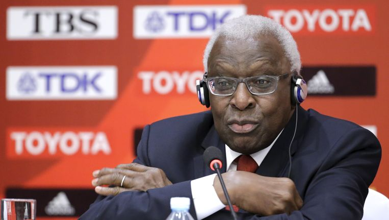 Aftredend IAAF-voorzitter Lamine Diack.