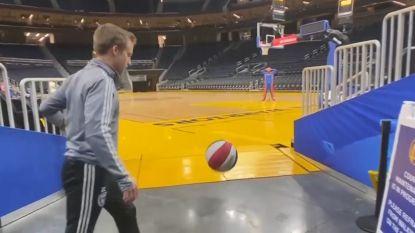 Dit doelpunt krijg je als je voetbal en basketbal combineert