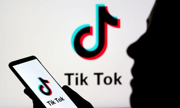 Het logo van TikTok.