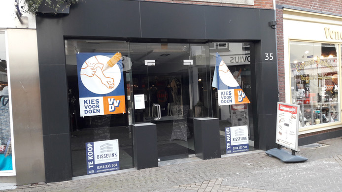 De pop-up store in de Heezenstraat.