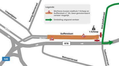 Ventweg Guffenslaan vanaf volgende week afgesloten voor verkeer