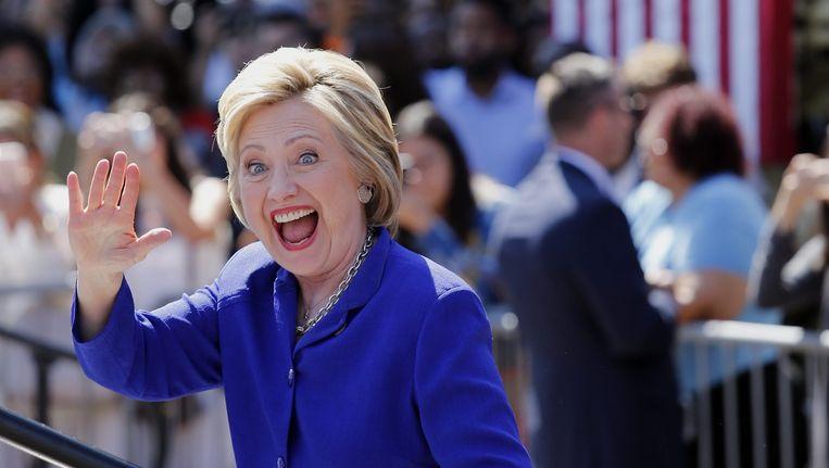 Hillary Clinton heeft meer dan 2.383 gedelegeerden en supergedelegeerden achter zich en daarmee is ze de gedoodverfde Democratische kandidaat voor het presidentschap van de Verenigde Staten. Beeld epa