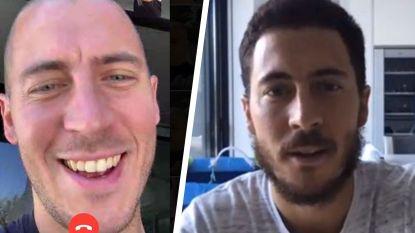 Wat quarantaine met Eden Hazard doet: gisteren nog een baard, vandaag kaal
