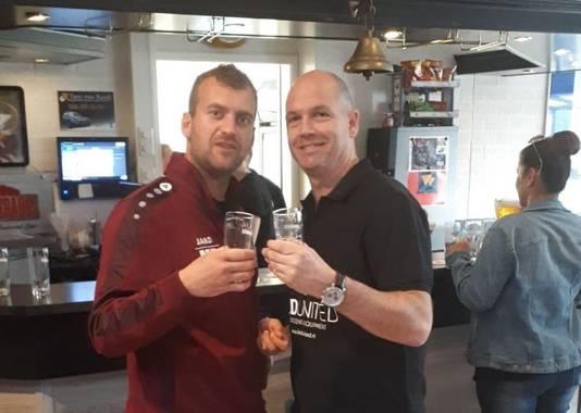 Voormalig teamgenoten Marco Bosch (links) en Peter Gerritsen.