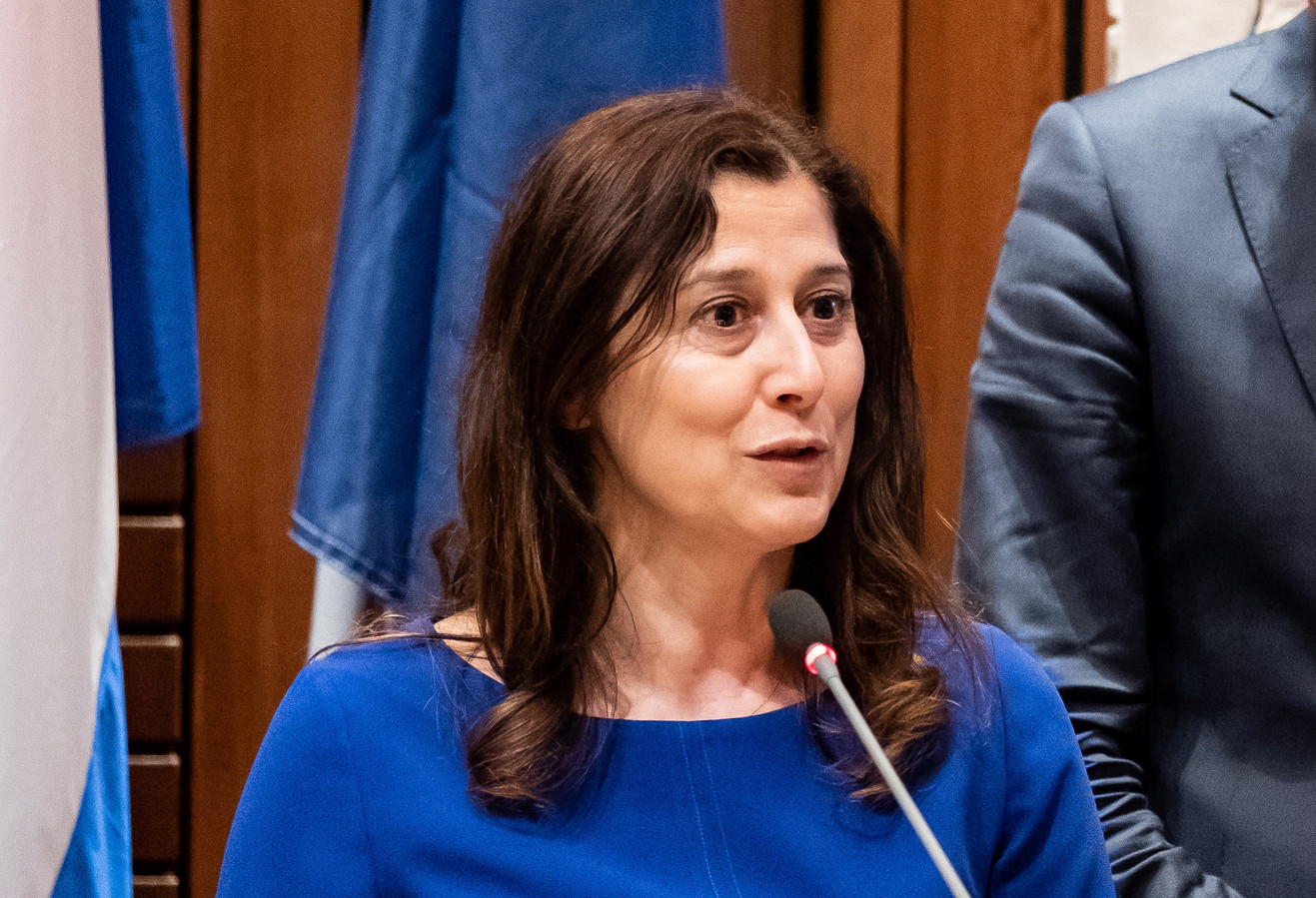 Wethouder Fatma Koser Kaya  (D66, Onderwijs).