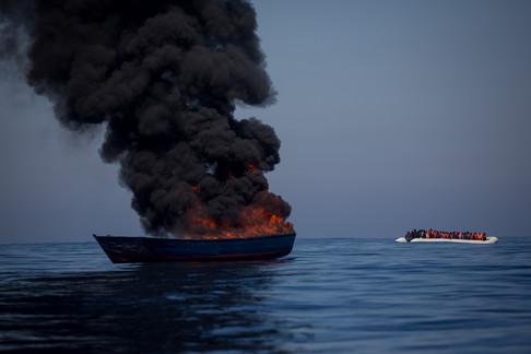Foto van Op het nippertje gered nabij Lampedusa