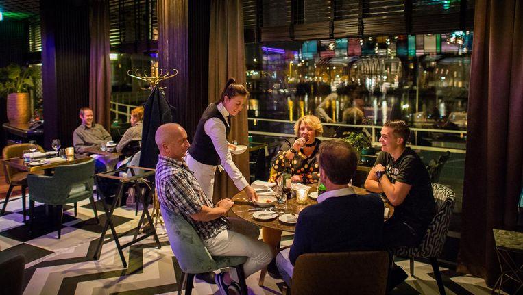 Bodon, het nieuwe restaurant in het Apollo Hotel, won de award voor het beste restaurantdesign. Beeld Mats van Soolingen