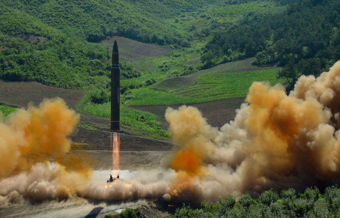 Noord-Korea testte begin juli een Hwasong-14, intercontinentale, raket.