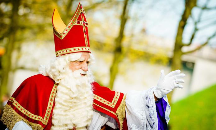 Sinterklaas tijdens de intocht van de sint in Nijmegen.