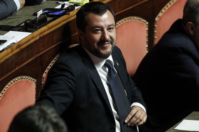 Matteo Salvini is de partijleider van de rechts-populistische partij Lega.