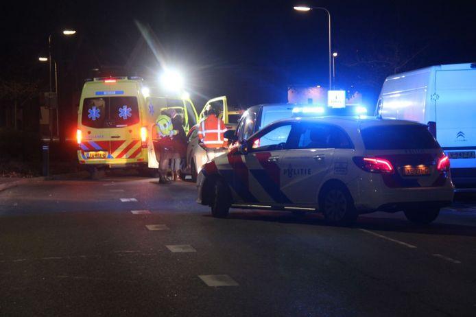 De bromfietser is in botsing gekomen met een auto in Rijssen