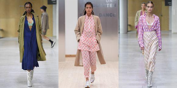 3 looks uit de SS20 catwalkshows van Baum und Pferdgarten en Samsøe Samsøe op Copenhagen Fashion Week.
