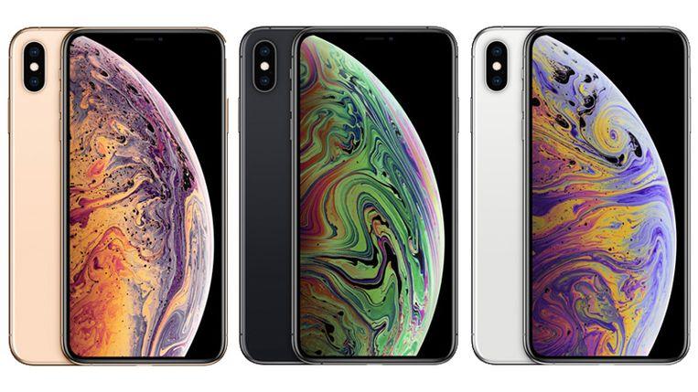 De iPhone XS Max in al zijn uitvoeringen.