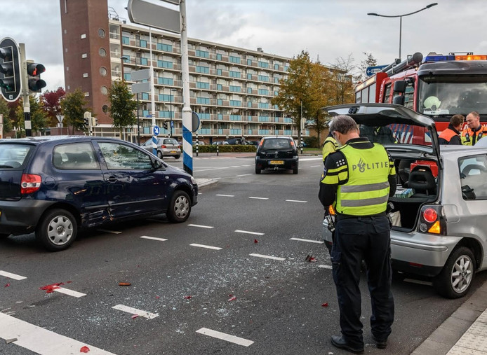 Ongeluk op de Doornboslaan in Breda.