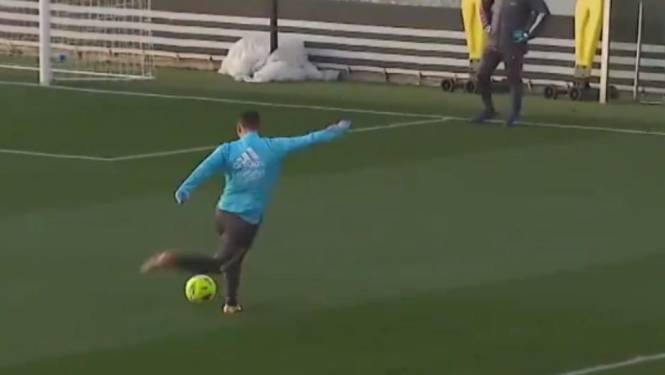 Eden Hazard op z'n best: Rode Duivel pakt uit met heerlijke actie (en goal) op training bij Real