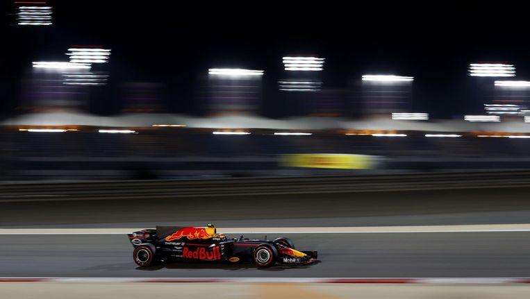 Max Verstappen tijdens de Grote Prijs van Bahrein. Beeld getty