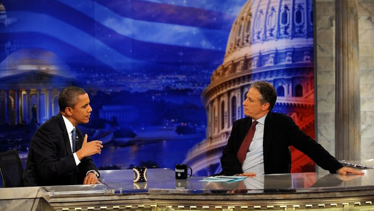 President Obama was in 2012 te gast bij The Daily Show. Beeld null