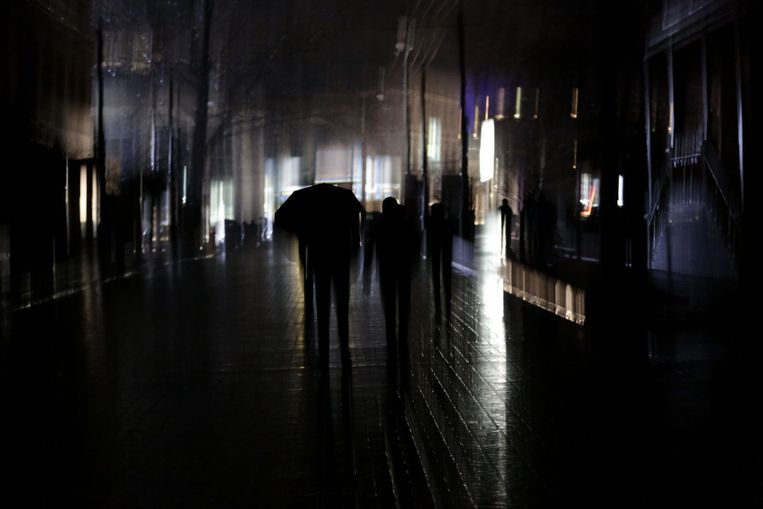 Donkere straten dinsdagnacht Beeld afp