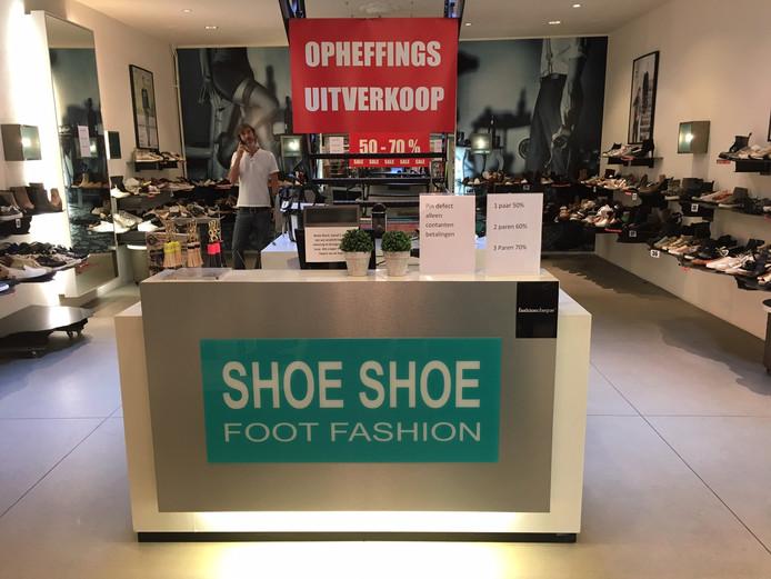Schoenenwinkel Shoe Shoe in Oss sluit de deuren binnenkort.