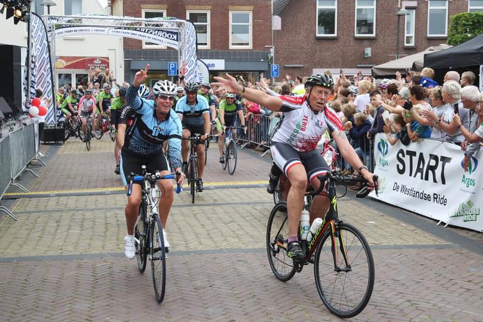 De finish van De Westlandse Ride in 2016.