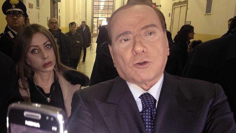 Voormalig premier van Italië, Silvio Berlusconi. Beeld EPA