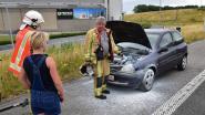 Rokende motor schrikt automobiliste op