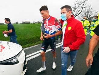 Mathieu van der Poel stelt het goed en hoeft dan toch niet naar ziekenhuis na val in gracht