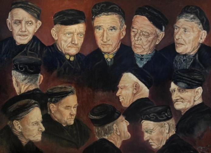 Naast de presentatie van het fotoboek van Neeltje Flipse-Roelse, is ook een expositie ingericht met haar schilderijen. foto Ruben Oreel
