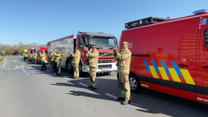 Brandweer en spoeddienst danken elkaar