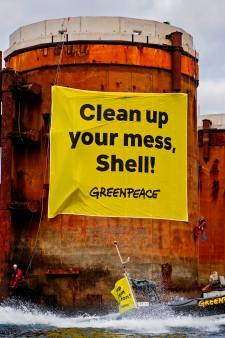 Schotse rechter verbiedt Greenpeace actie te voeren bij oude boorplatforms Shell