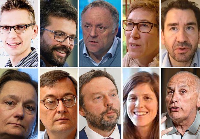 Deze tien experts moeten België uit lockdown halen.
