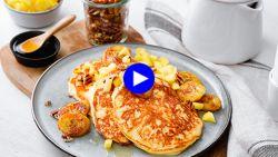 Pimp je pannenkoeken met banaan tot een goddelijk dessert met twee simpele trucjes